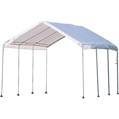 ShelterLogic 10' x 10' MaxAP Canopy Series Compact Outdoor Easy to Assemble Steel Metal Frame Canopy with 50+ UPF Sun Protection and Waterproof Cover : Outdoor Canopies