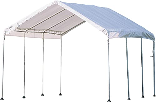 ShelterLogic 10 x 10 MaxAP Canopy Series Compact Outdoor Easy to Assemble Steel Metal Frame Canopy with 50 UPF Sun Protection and Waterproof Cover