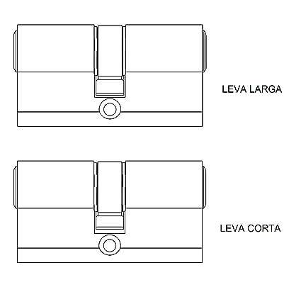 Tesa 3012430 Cilindro Seguridad T60 /30x30. Niquelado Leva Corta, 30x30 mm: Amazon.es: Bricolaje y herramientas