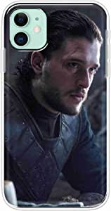 Okteq Clear TPU Protection and Hybrid Rigid Clear Back Cover Case Printed Compatible with Apple Iphone 11 - Jon Snow By Okteq