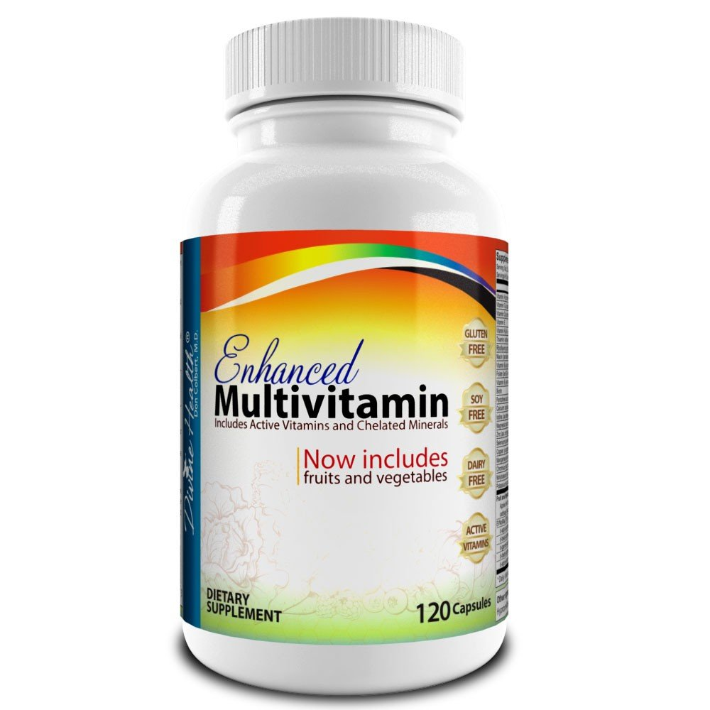 Medical Doctor Formulated Enhanced Multivitamin Plus Chelated Minerals – 120 Veggie Capsules – Active Vitamins – Fruits – Biotin – B Complex – Vegetables – MTHF – Mixed Tocotrienol Tocopherol Mix