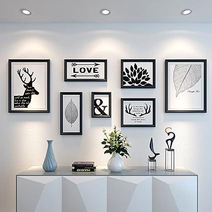 Amazon.com - ALUS- 7 Multi Photo Frames Set Modern Minimalist Style ...