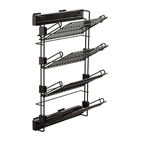 718227bb Emuca 7087013 Pull-out shoe-rack accessory with soft closing for wardrobe,  left hand assembly, moka colour: Amazon.co.uk: DIY & Tools