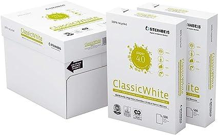 Papel Reciclado Ecológico Din A4 para Impresoras y Fotocopiadoras Papel 100% Reciclado y Ecológico de 80grs Sin Atascos Certificado Iso 70 Ecolabel 011002 Caja 2500 hojas en 5 paquetes: Amazon.es: Oficina y papelería