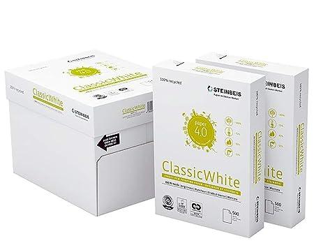 Papel Reciclado Ecológico Din A4 para Impresoras y Fotocopiadoras Papel 100% Reciclado y Ecológico de 80grs Sin Atascos Certificado Iso 70 Ecolabel ...