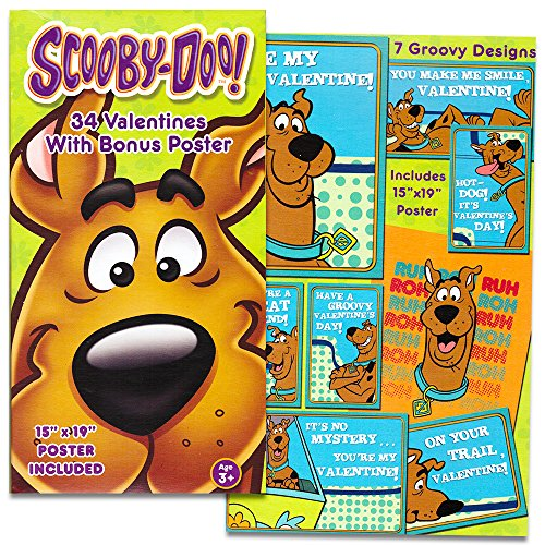 Scooby Doo Valentines Day Cards -- 34 Scooby Doo Valentines with Bonus Poster