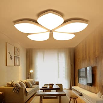 SEESUNG Slim LED Wohnzimmer Deckenleuchte, Post Modern Floral Romantische  Schlafzimmer Deckenleuchte, Durchmesser 27