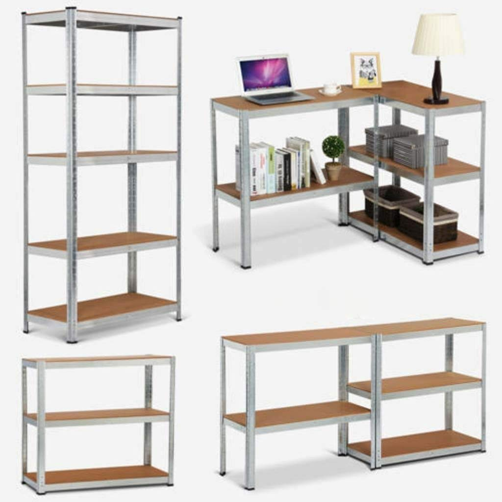 5 Tier Heavy Duty Steel Warehouse Racking Shelving Shelves 875KG Capacity Boltless Easy Assembling For Garages//Sheds//Stockrooms//Office,180x90x40cm,Black