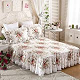 Bed skirt lace single anti-skidding 100% cotton sheet bed sets bedspread-A 200x220cm(79x87inch)