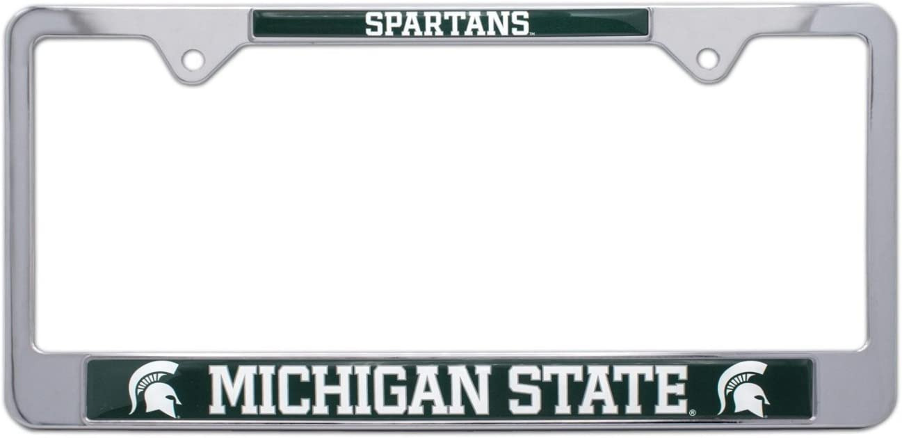 MSU NCAA Michigan State University Spartans Chrome License Plate Frame