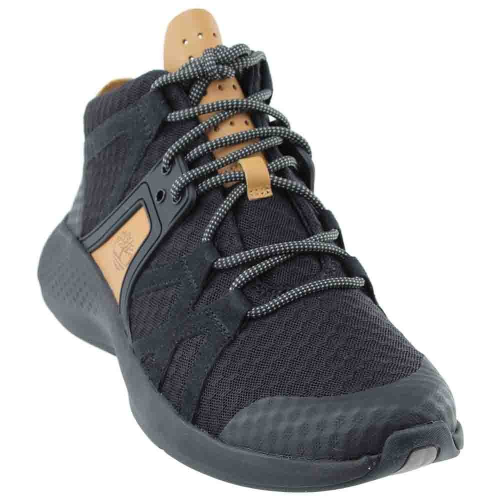 Timberland Mens Flyroam Go F/L Chukka Jet Black Sneaker - 10