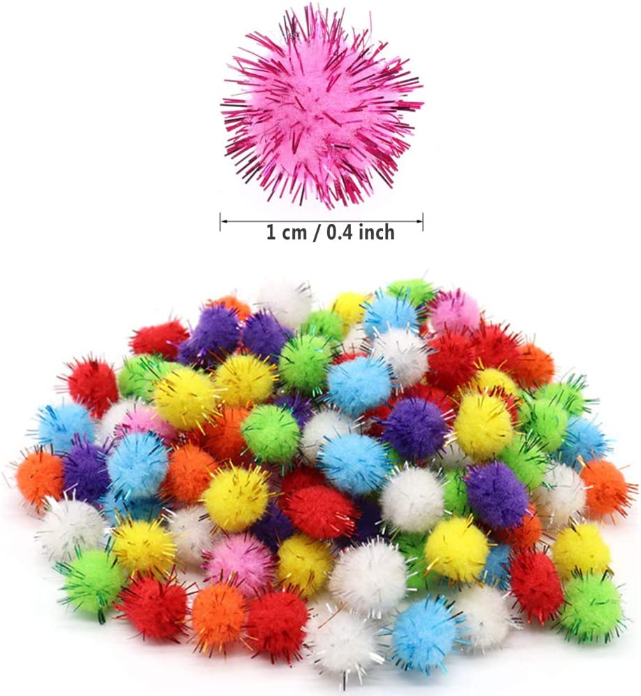 Seasons Shop Farbe Haarkugel Pom-Pom Mini Pompons Pl/üschkugel weichen Flauschigen Ball Kindergarten Kinder DIY handgefertigte Materialien