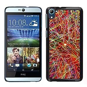 A-type Arte & diseño plástico duro Fundas Cover Cubre Hard Case Cover para HTC Desire D826 (Explosión de color)