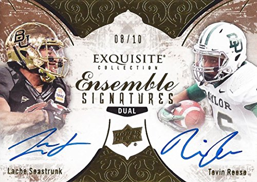(TEVIN REESE/LACHE SEASTRUNK 2014 Upper Deck Exquisite Collection Football ENSEMBLE SIGNATURES DUAL AUTOGRAPH (Baylor University) Rare Signed NCAA/NFL Collectible Gold Parallel Trading Card #08/10)