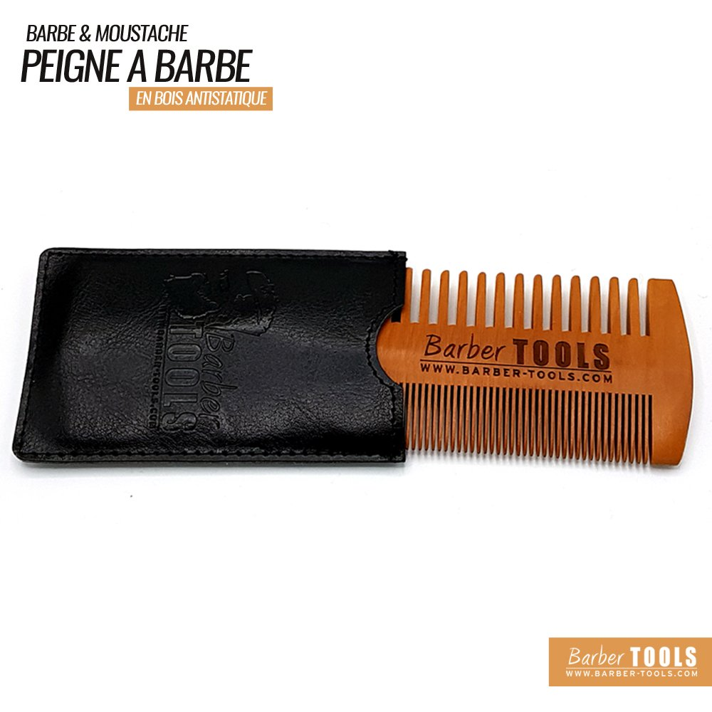 ✮ BARBER TOOLS ✮ Pettine per barba e baffo antistatico di grande qualità con il suo PU
