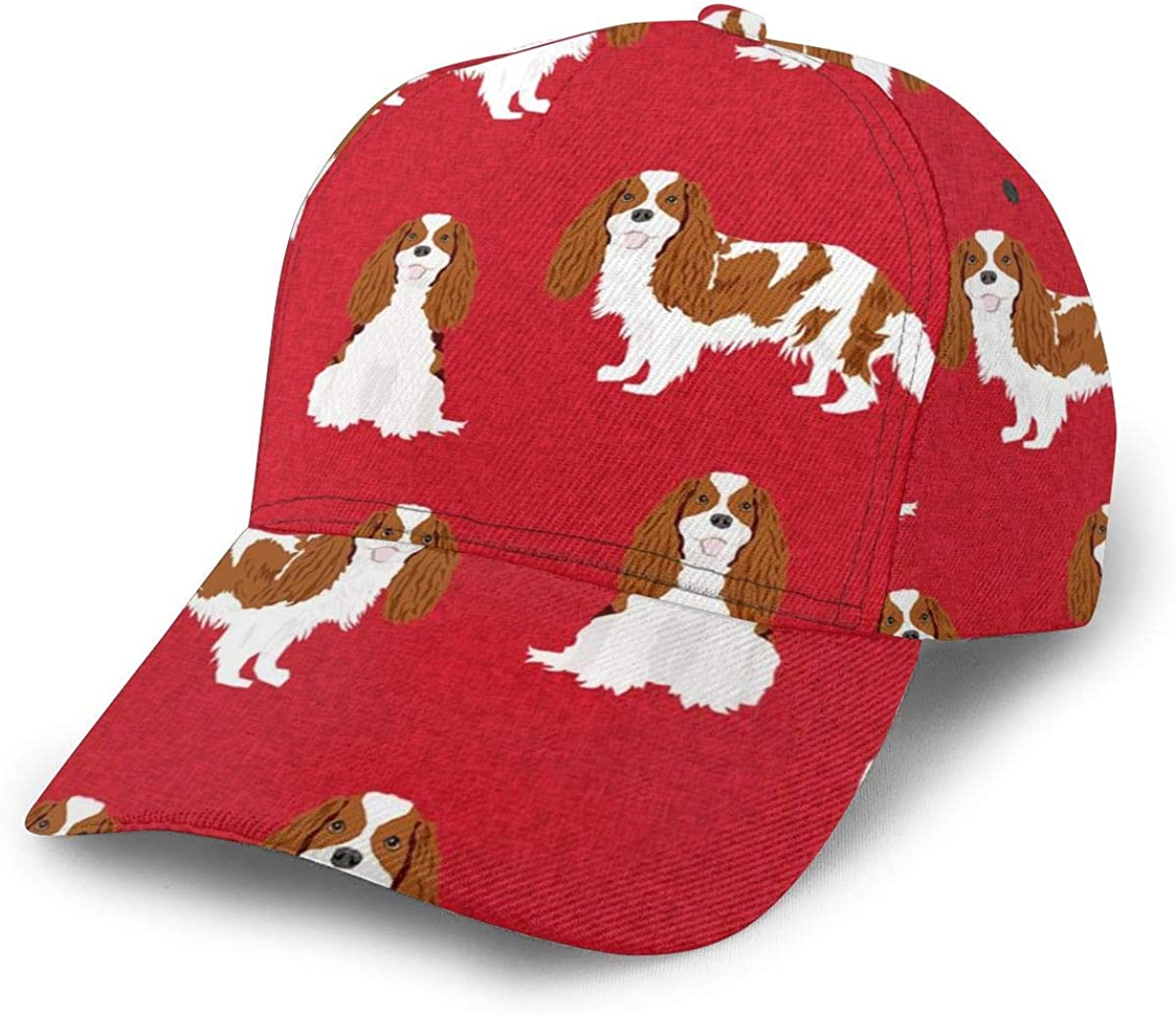 Cavalier King Charles Spaniel Blenheim - Gorra de béisbol ajustable para mascotas, estilo clásico, deportivo, casual, para hombres y mujeres, sombrero para el sol