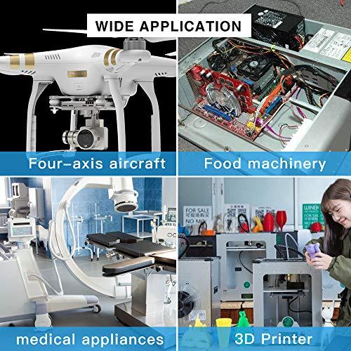 6 Sizes Office Equipment 250PCS White Insulated Nylon Washer Electroplating Medical Equipment M2 M2.5 M3 M4 M5 M6 for Communication Nylon Screw//Nut//Washer Assortment Kit with Plastic Box