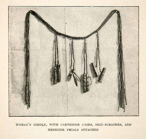 Costume Zimbabwe (1896 Print Women Fashion Girdle Africa Mashonaland Zimbabwe Tribal Costume Shona - Original Halftone)
