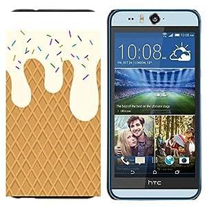 TECHCASE---Cubierta de la caja de protección para la piel dura ** HTC Desire Eye ( M910x ) ** --Crema de la galleta dulces Summer Sun