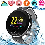 Fitness Tracker Waterproof IP68 Smartwatch for Swimming Heart Rate Blood Pressure Oxygen Sleep Monitor Activity Tracker Pedometer kids Men Women Color Screen Outdoor Sport Bracelet for Android iOS