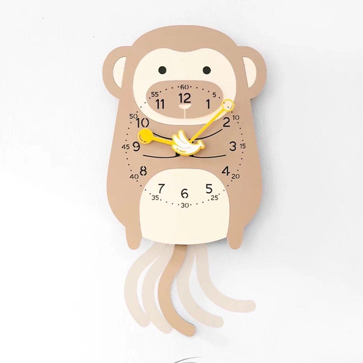 子供部屋用 動物 フラワ クロック おしゃれ デザイナーズ掛け時計 可愛い かわいい 静音 掛時計 壁掛け EBODONG B07CW6NL22 タイプ6 タイプ6