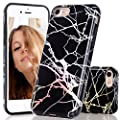 iPhone 7 Case, Light Blue Marble Creative Design, BAISRKE Slim Flexible Soft Silicone Bumper Shockproof Gel TPU Rubber Glossy Skin Cover Case for Apple iPhone 7 4.7 inch (2016)