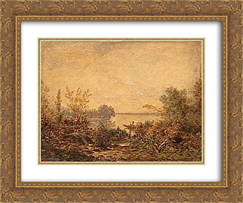 Theodore Rousseau 2x Matted 24x20 Gold Ornate Framed Art Print - Riverside Galleria