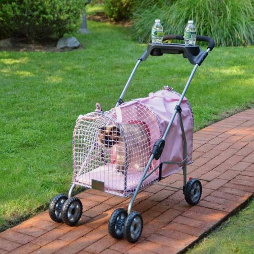 Cat Supplies 5Th Ave Pet Stroller Pink