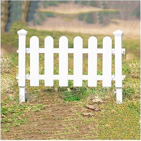 YANG-Valla Madera YYFANG Protección de Las Plantas de jardín Decoración de plástico for cercas Plug-in de Estilo Europeo, 4 tamaños (Color : White, Size : 50x48cm): Amazon.es: Hogar