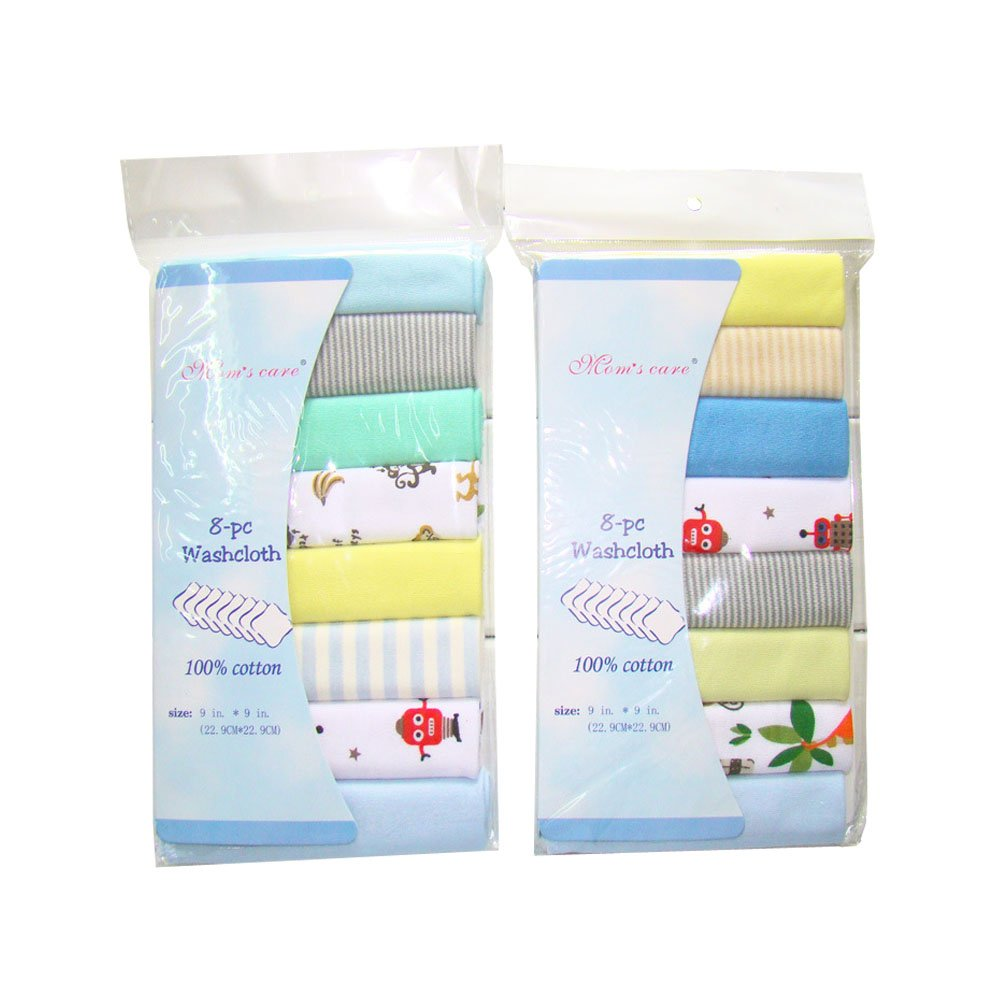 8 Pack Newborn Baby Muslin Washcloths Soft Cotton Nursing Towels Busy Mom