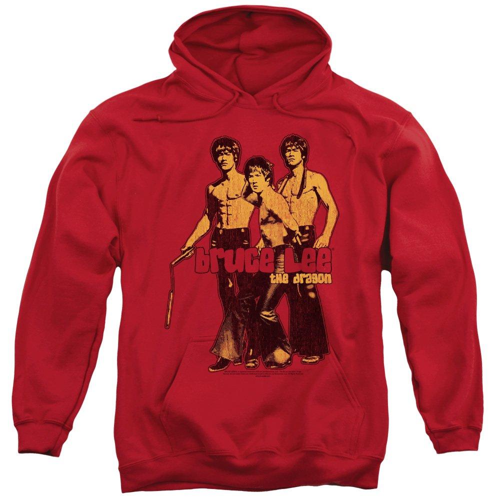 Bruce Lee Der drache nunchakus kampfkunst-legende hoodie für Herren