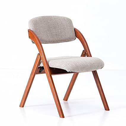 Amazon.com: Chair home solid wood dining chair/simple Nordic chair/modern chair creative leisure chair folding chair folding chairs indoor (Color : C): ...
