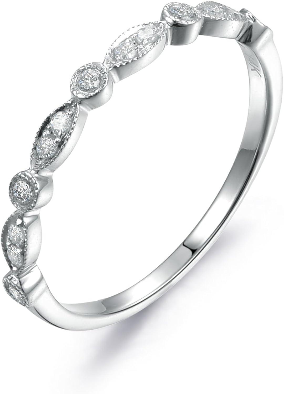 New 0.20ctw Diamond Wedding Band 10k White Gold Size 9 Ring