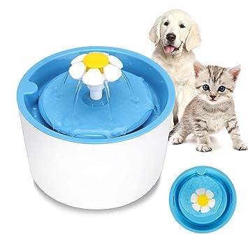 MYSWEETY Fuente de Agua Potable para Mascotas para Gatos Saludable e higiénica Fuente de Flor para