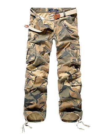 Menschwear Herren Cargo Hosen Freizeit Multi-Taschen Military pantaloni  Ripstop Cargo da uomo: Amazon.de: Bekleidung