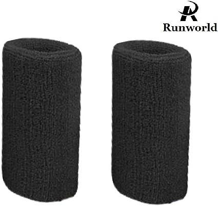 Sweat-Absorbent Towel Wristbands Men and Women Sports Cotton Wrist Sweat Light Blue
