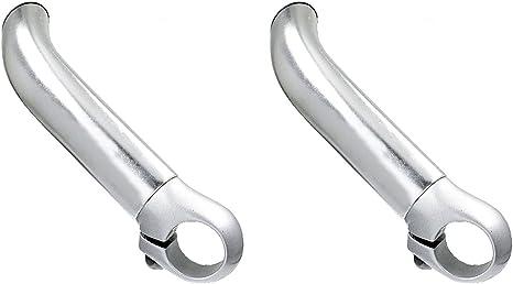 Acoples Cuernos Apendices de Aluminio Color Plata para Manillar ...