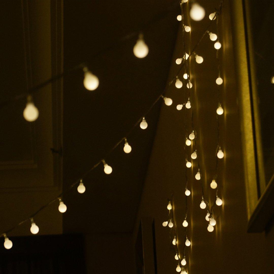 Meliya 5M 40 LED Ball Fairy Lights 8 Lighting Modes String Lights Decorative Lighting for Wedding/Lawns/Christmas/Indoor & Outdoor (Colorful)