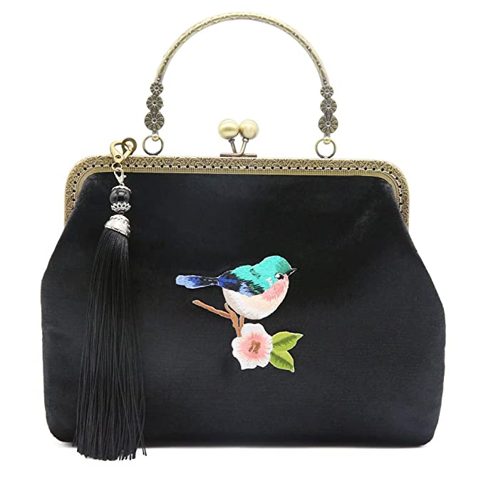 Vintage & Retro Handbags, Purses, Wallets, Bags JBTFFLY Satchel Purses and Handbags for Women Vintage Shoulder Bags Evening Bags $28.66 AT vintagedancer.com