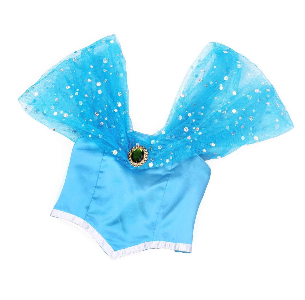 AmzBarley Ni/ña Aladdin Princesa Jasmine Disfraz jazm/ín Tops Pantalones Manga Corta Traje Cosplay Actuaci/ón Carnaval Navidad Regalo Cumplea/ños Danza Vientre Vestido de Princesa