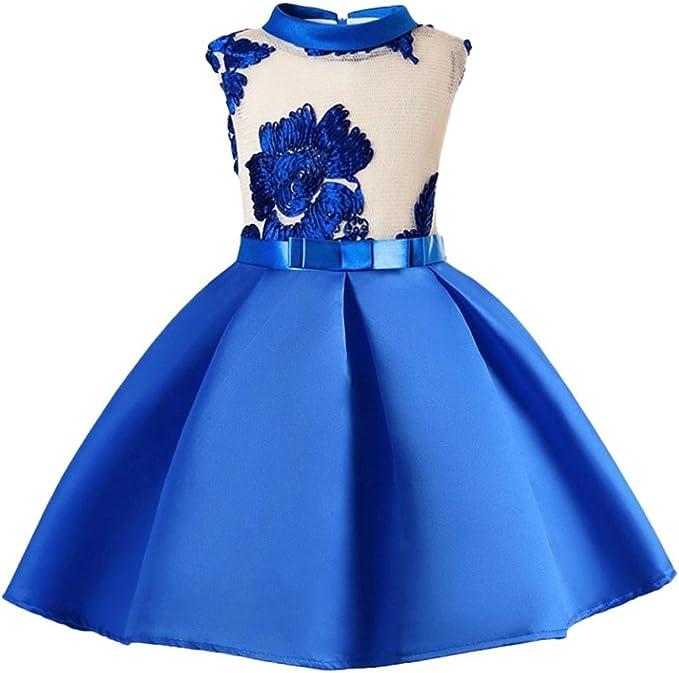 Vestiti Eleganti Bimba 3 Anni.Uomogo Royal Bambina Filati Netti Ricamo Fiore Vestiti Da
