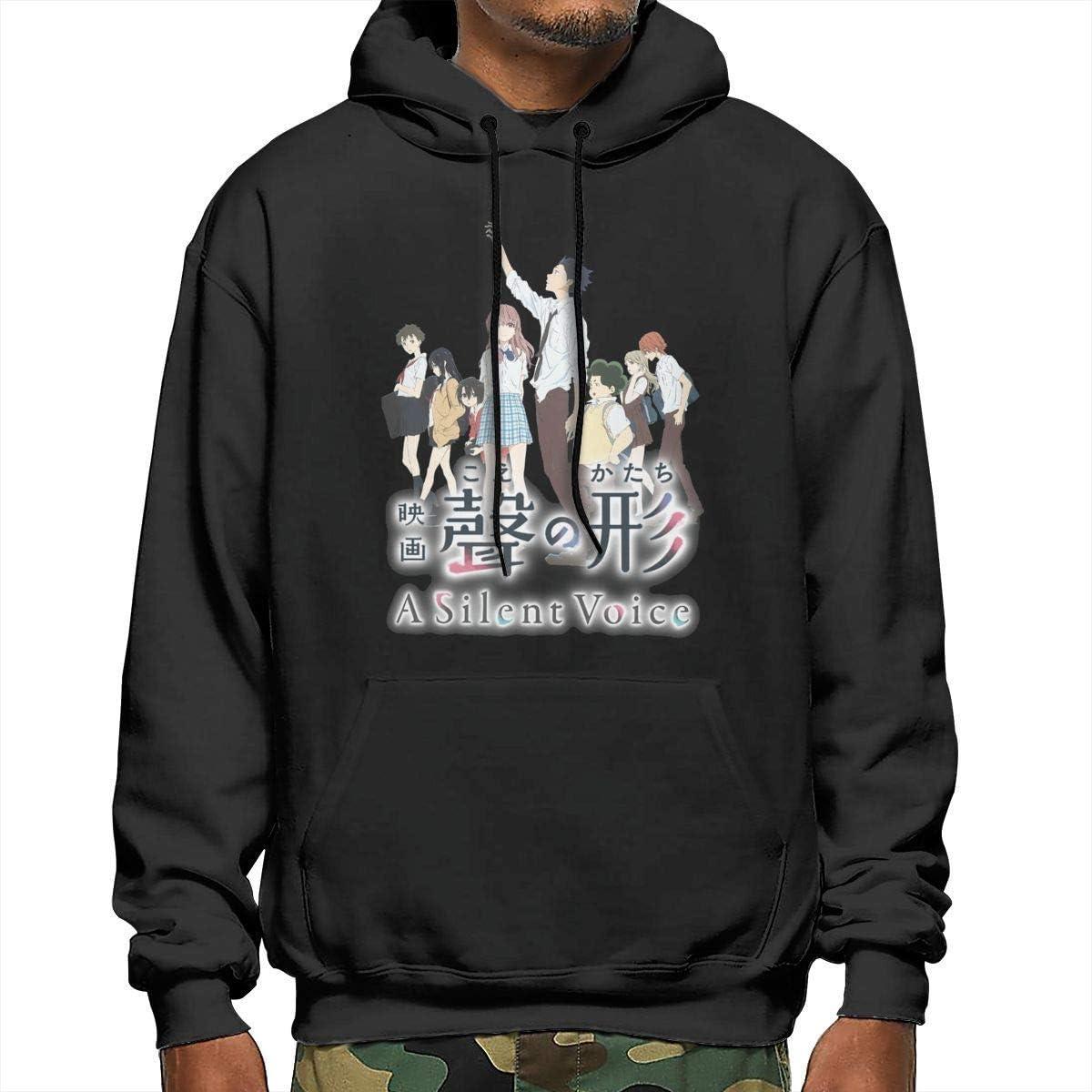 GladysWatchman Mens A Silent Voice Soft Pullover Sweatshirt Black