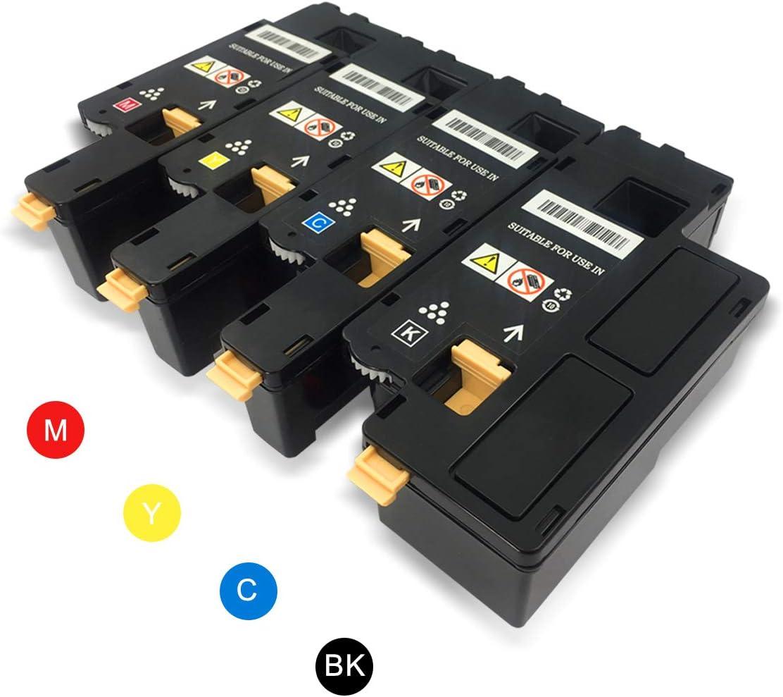 VICTORSTAR Compatible Toner Cartridge Dell E525w (BK + C + Y + M) 4 Colors / 2000 Pages (Black) & 1400 Pages (Colors) for Dell Laserjet Printer e525w