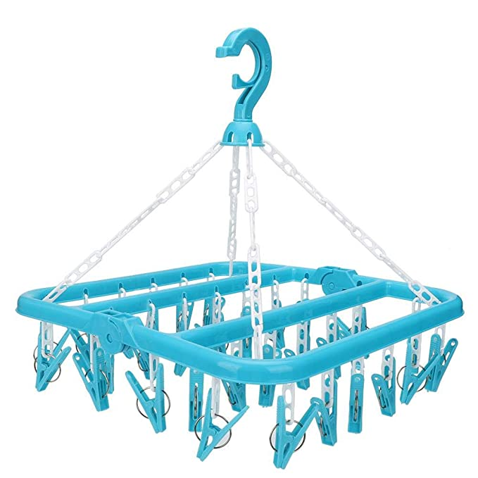 Duokon Sombrero y Guante Calcetines Ropa Interior Tendedero de Ropa para Calcetines Toallas tendedero para secar Ropa 32 Clips y Perchas de Goteo Ropa Plegable pa/ñales