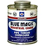 J.C. Whitlam IG4 Blue Magic Industrial Grade Pipe Thread Compound, 4-Ounce