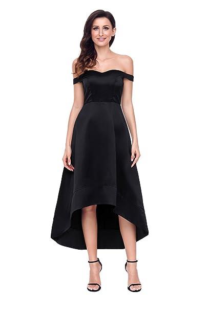Amazon.com: ouregrace mujeres apagado hombro alta baja Maxi ...