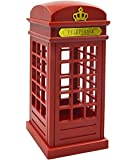 Gosear®Lampe Touch Sensor Cabine Téléphonique de Londres Vintage Conçu USB charge LED Table Bureau Veilleuse Luminosité Réglable Pour Chambre étudiants Dortoir Bar Décoration Birthday Gift