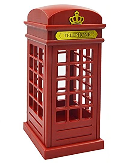 Cabina telefónica Vintage Londres diseñado de lampara de Mesa, USB LED Noche Touch Sensor lámpara