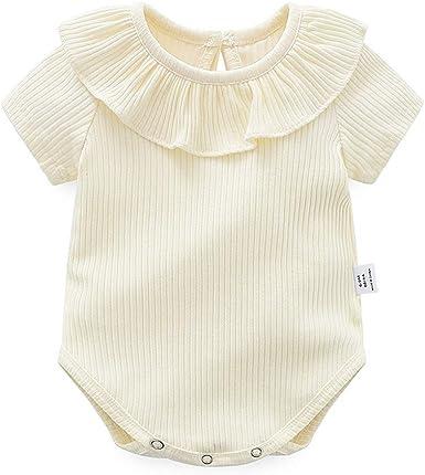 Bebé Niñas Pelele de Algodón, Pijama de Manga Corta Monos Linda Mameluco Verano Body Ropa de Bebé 3-18 Meses: Amazon.es: Ropa y accesorios