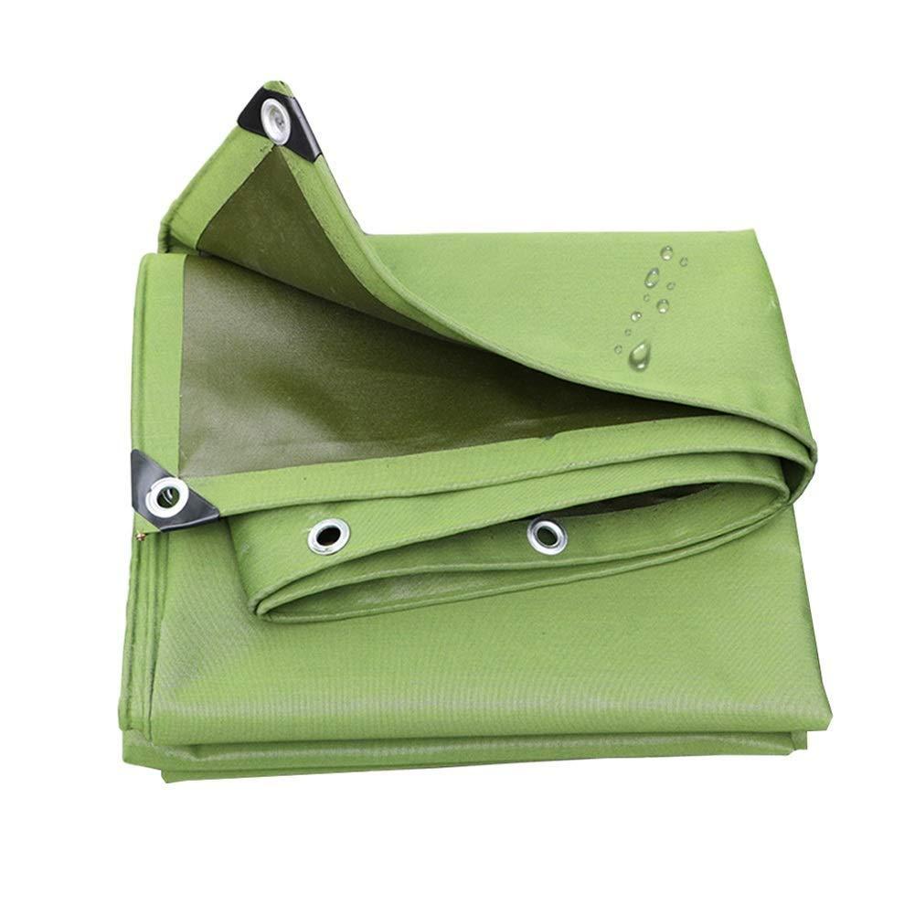 Tarpaulin Waterproof verde Outdoor, Pannelli parafanghi a Doppia Faccia, Copertura per Tenda FENGMING (colore   verde, Dimensioni   3x3m)